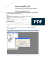Rdf to XML Conversion