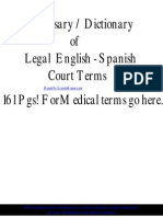 Legal English Spanish Dictionary