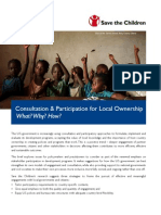 Consultation Local Ownership