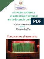Las redes sociales y el aprendizaje informal en la docencia universitaria