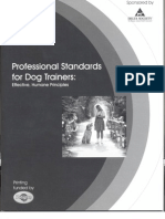 Professional Standards for Dog Trainers 2001