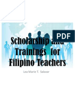 Scholarship and Trainings for Filipino Teachers
