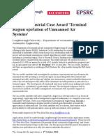EPSRC Industrial Case Award Terminal-1
