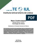 Sociologia Ciência -  Nanocontrovérsias na Nanotecnologia