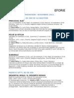 Program Noiembrie 2011