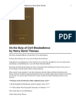 Thoreau - On the duty of Civil Disobedience