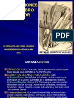 Articulaciones MS y Miembro Inferior I - Dr Sandoval