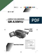 JVC GR-AXM1U Camcorder Manual