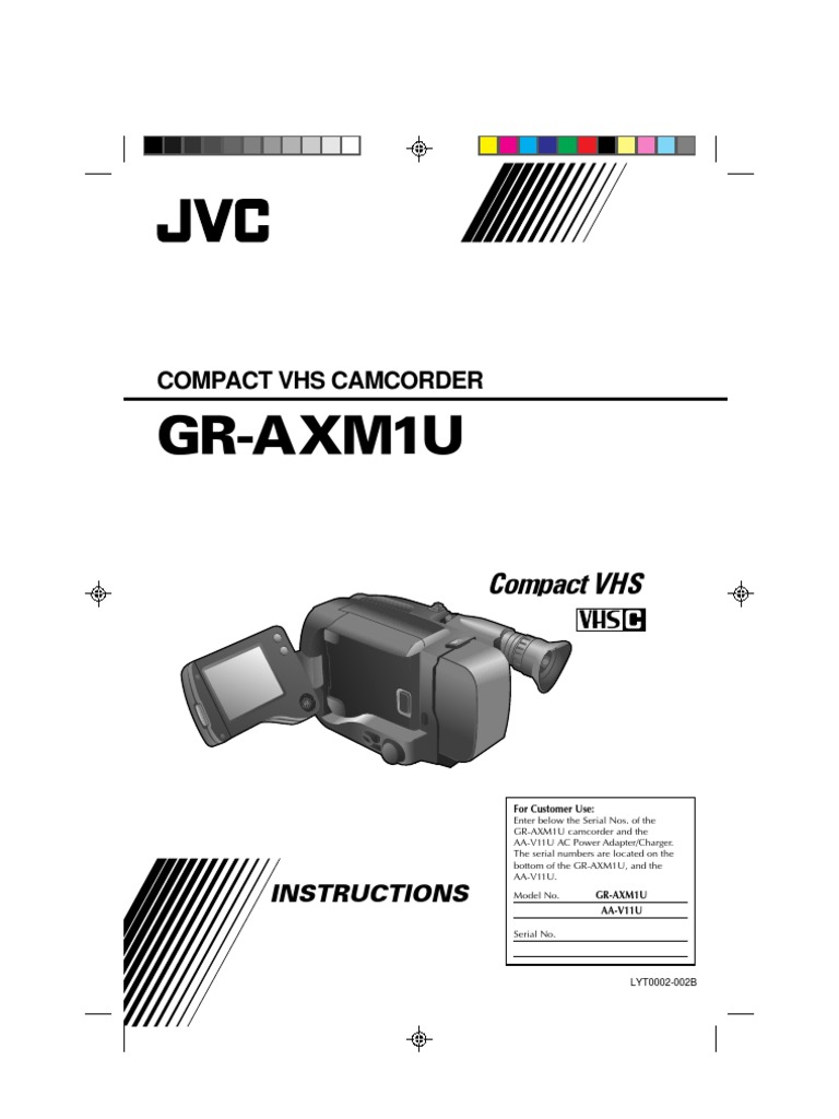 Jvc Vcr Wiring Diagram Gr Axm1u Camcorder Manual Ac Power Plugs And Sockets Battery Charger