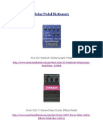 Delay Pedal Dictionary