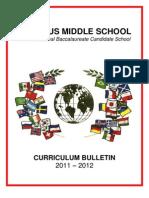 Curriculum Bulletin 2011 2012