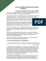 DEFININDO O PAPEL DO CASAMENTO e DEFININDO OS PAPÉIS NO CASAMENTO