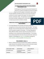 introduction to innovative contractors procurement management plan