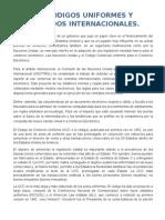 3.1 Codigos Uniformes y Acuerdos Internacionales