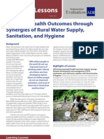 Attaining Health Outcomes through Synergies of Rural Water Supply, Sanitation, and Hygiene