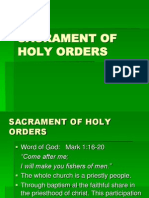 Sacrament of Holy Orders