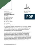 National Enquirer Cease and Desist Ltr 11-03-11