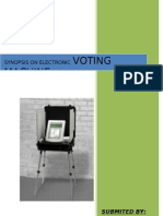 SYNOPSIS Electronics Votiong Machine