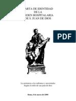 CARTA DE IDENTIDAD DE LA ORDEN HOSPITALARIA