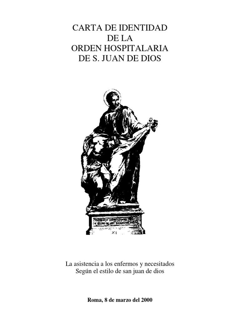 Carta De Identidad De La Orden Hospitalaria Jesús Eucaristía