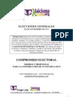 Compromiso Electoral por un Estado Laico ante el 20N - PROPUESTAS DE EUROPA LAICA