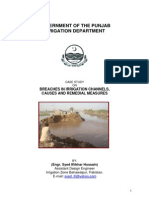 Case Study on Breaches in Irrigation Channels