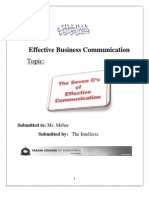 7 C's of Effective Business Communication by Rabia Munawar