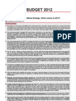Budget 2012 - Market Strategy 111007