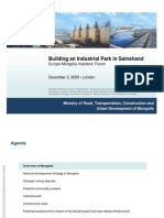 Building an Industrial Park in Sainshand