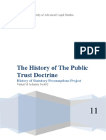 The History of the Public Trust Doctrine