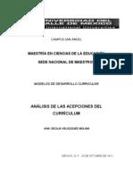ANALISIS DE LAS ACEPCIONES DEL CURRÍCULUM