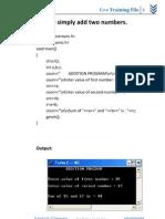 c++ training file