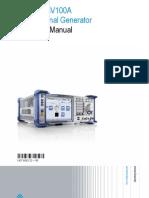 SMBV100A Operating