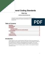 Perl Coding Standard Rescomp