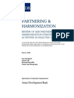 Review of ADB Partnering and Harmonization Strategies and Activities in Selected Countries