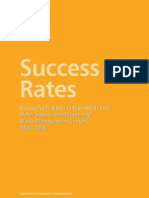 Success Rates Health and Water