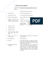 High Sea Sales Agreement Format