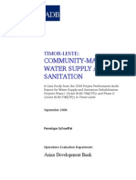 Community-Managed Water Supply and Sanitation in Timor-Leste