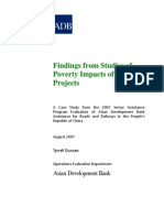 Findings from Studies of Poverty Impacts of Road Projects in People's Republic of China