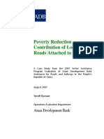 Poverty Reduction Contribution of Local Roads Attached to Projects in People's Republic of China