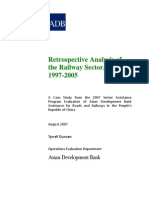 Retrospective Analysis of the Railway Sector in People's Republic of China, 1997-2005
