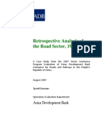 Retrospective Analysis of the Road Sector in People's Republic of China, 1997-2005