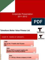 Talwalkars - Corporate Presentation