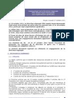 Communiqué DR PEHN aux OS du 27102011