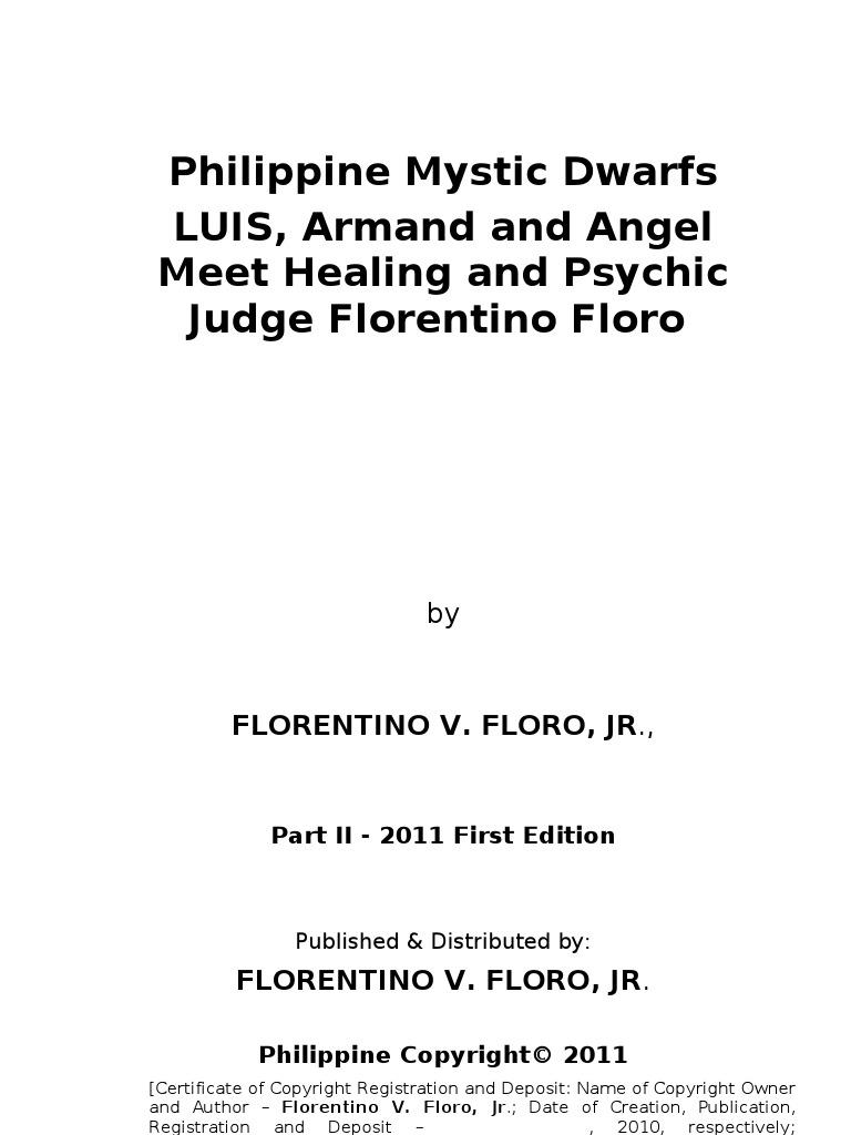 Philippine Mystic Dwarfs Luis Armand And Angel Meet Judge 1911 Assembly Diagram Http Forums1911forumcom Showthreadphpt Florentino Floro Extraterrestrial Life Stephen Hawking