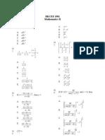 Mathematics 1981 Paper 2