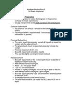 Lecture 6,  Amalgam Restorations (2) - Outline - Handout