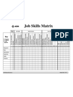 Job Skills Matrix Sample