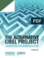 Alternative Libel Project - Preliminary Report