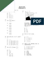 Mathematics 1994 Paper 2